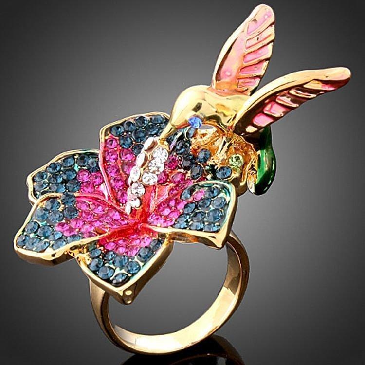 кольца в виде цветов Fauzer