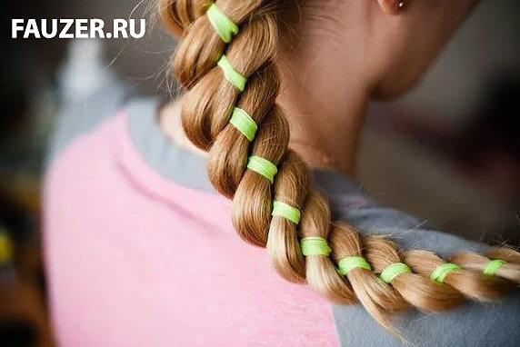 Красивые прически с аксессуарами для волос - резинки