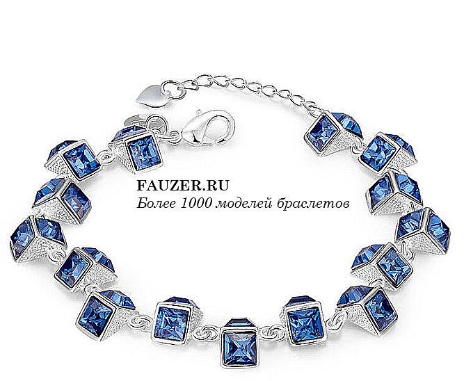 Фото красивых эксклюзивных серебряных браслетов для женщин