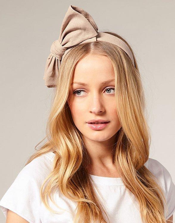 фирменный ободок для волос с бантом