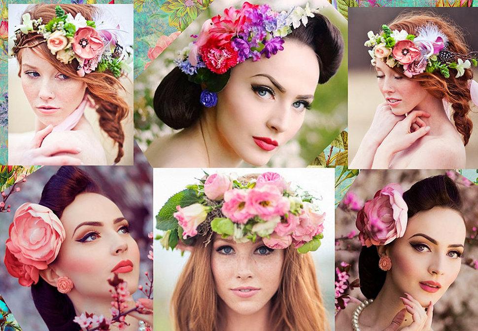 ободок с цветами от Fauzer