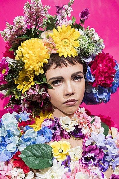 ободки с цветами на короткие волосы от Fauzer