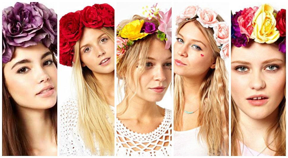 ободки с цветами на короткие волосы