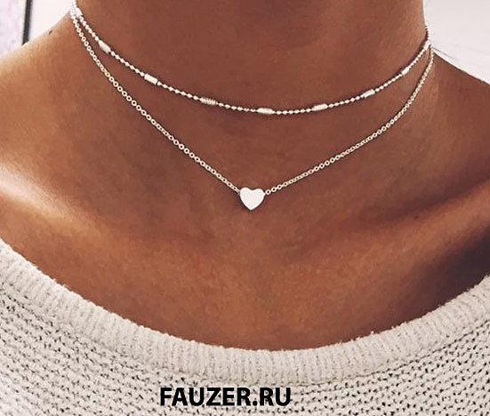 Сколько стоят качественные украшения на  шею для женщин, детей в интернете