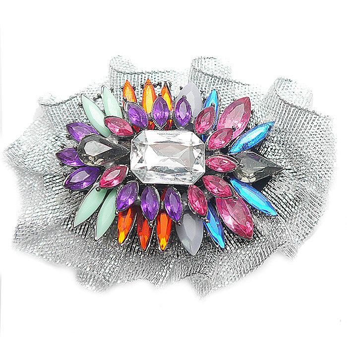 брендовые броши с кристаллами от Fauzer
