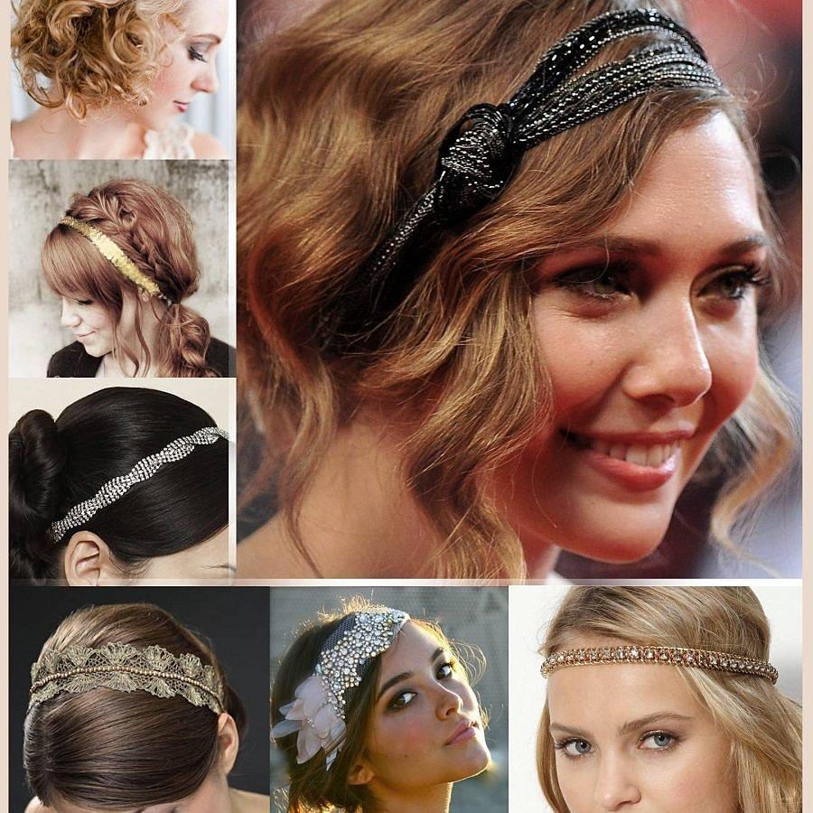 украшения для волос на различных прическах