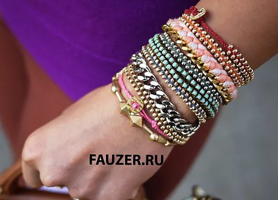 С чем носить браслеты женские - бижутерия