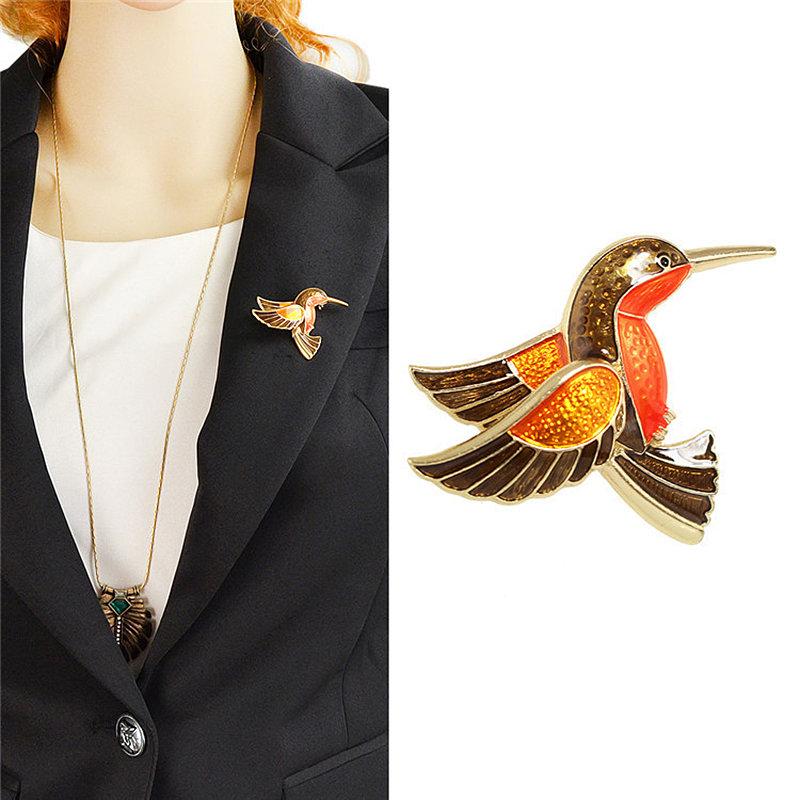 броши Fauzer в виде колибри