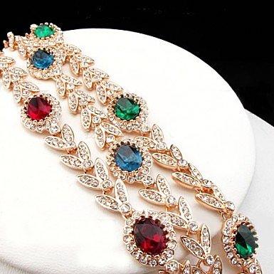 Позолоченные браслеты Fauzer с цветными фианитами
