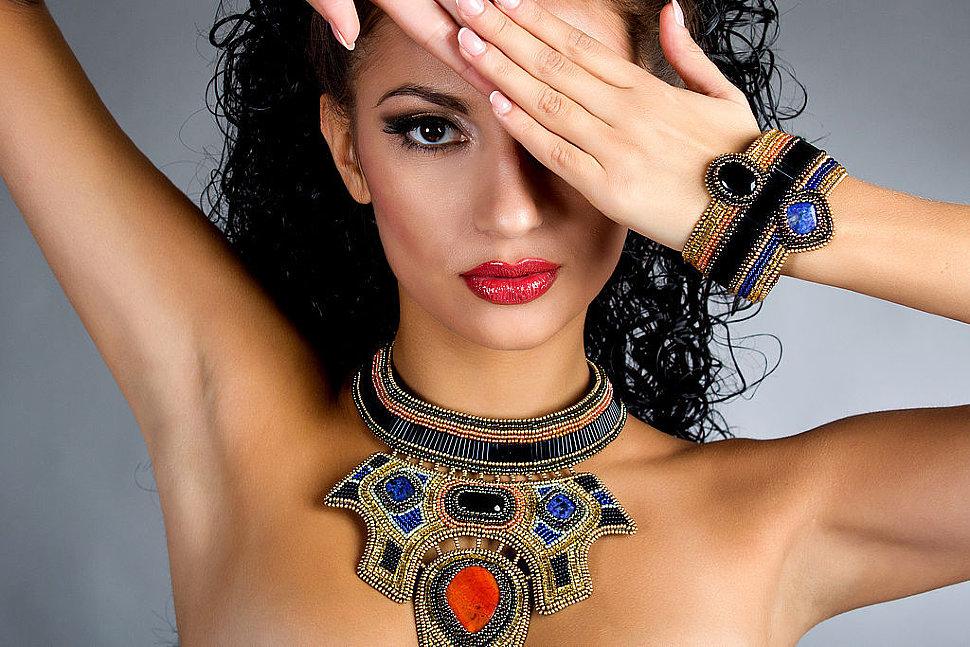 Египетский стиль ожерелья от Fauzer