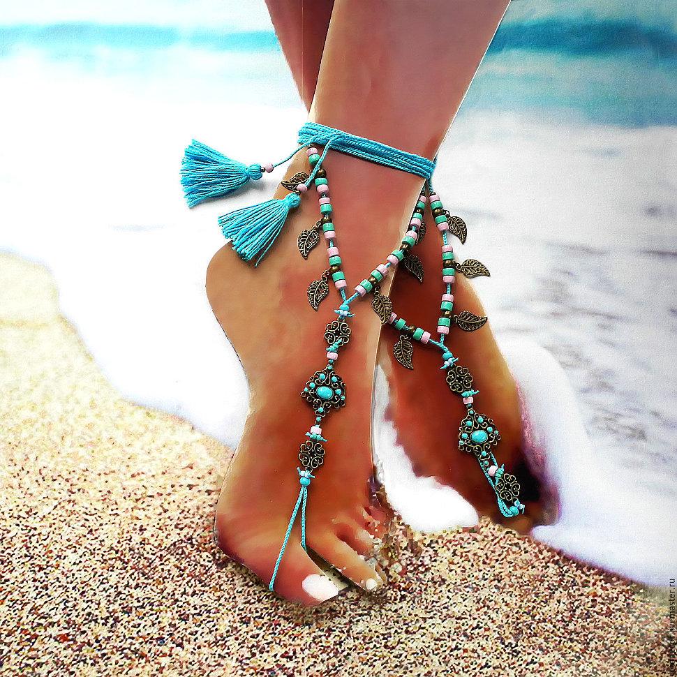 Эффектные браслеты  на ножки