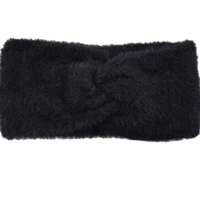 Широкие теплые повязки для волос