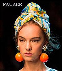 Платки на голову - красивые узлы