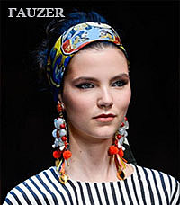 Платки на голову - красивые  узоры