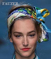 Платки на голову - красивые узлы фото