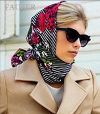 Платки на голову - красивые узлы  Италия
