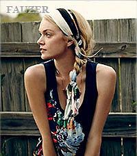 Платки на голову - красивые узлы  мода