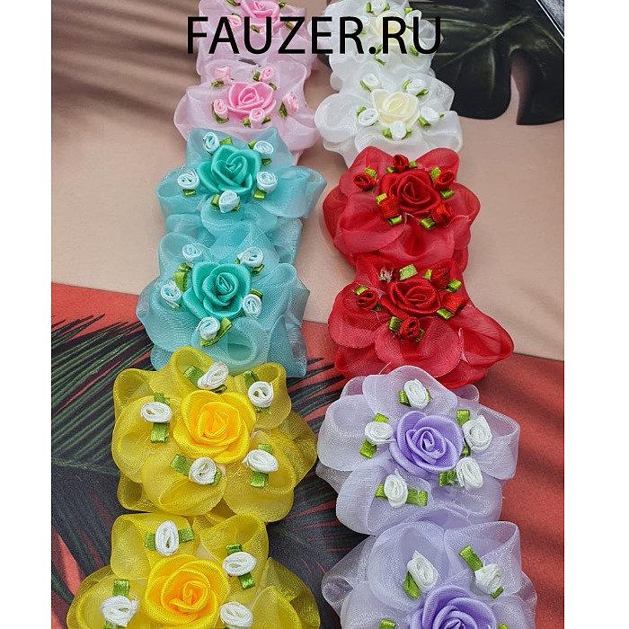Дизайнерские детские банты из шелка, ленты, сетки и органзы цветные