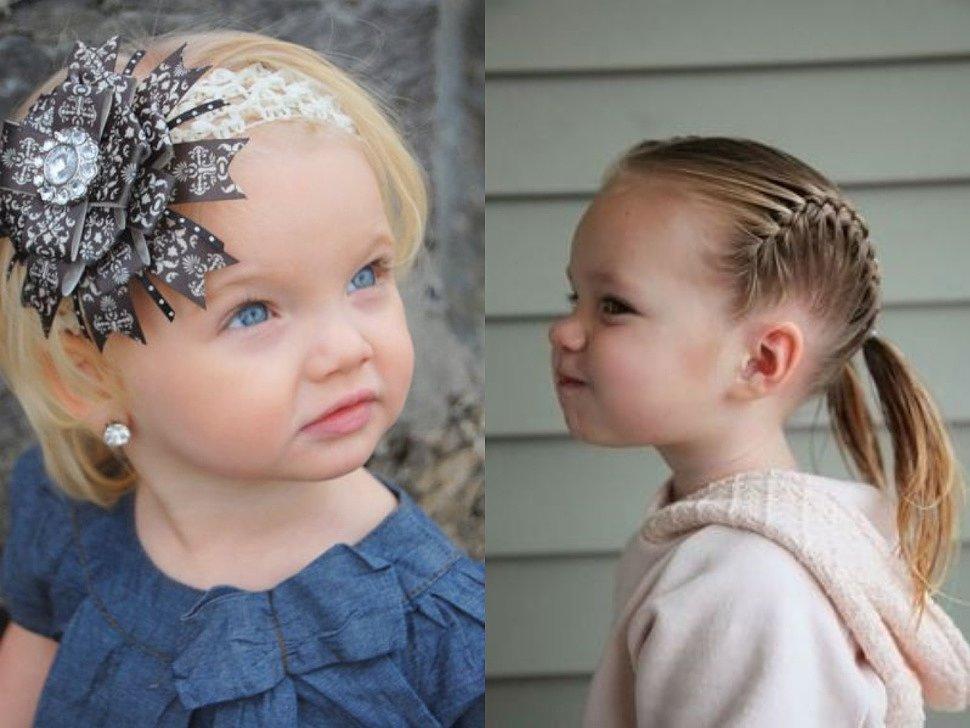 Детские прически с резинками для волос