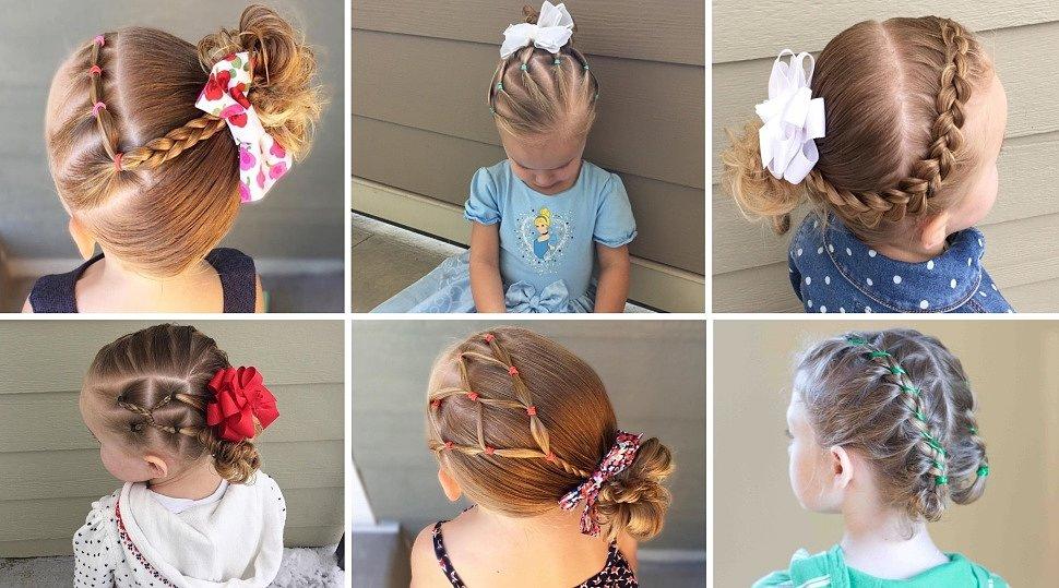 Детские прически с резинками для волос фото