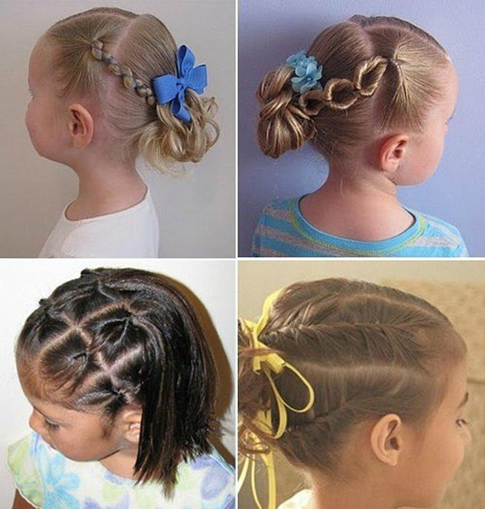 Детские прически с резинками для волос ручной работы