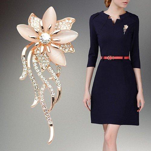 Модные броши - цветы, лепестки мода