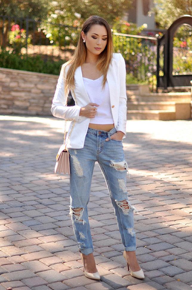 Голубые джинсы с чем носить женщинам? - Бижутерия, аксессуары