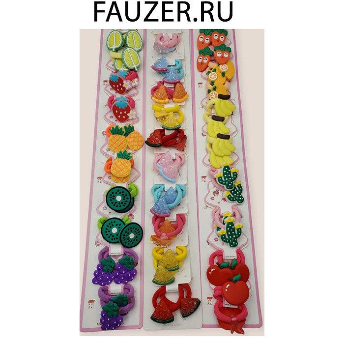 Детские заколочки с фигурками, фруктами и мультяшками в розницу