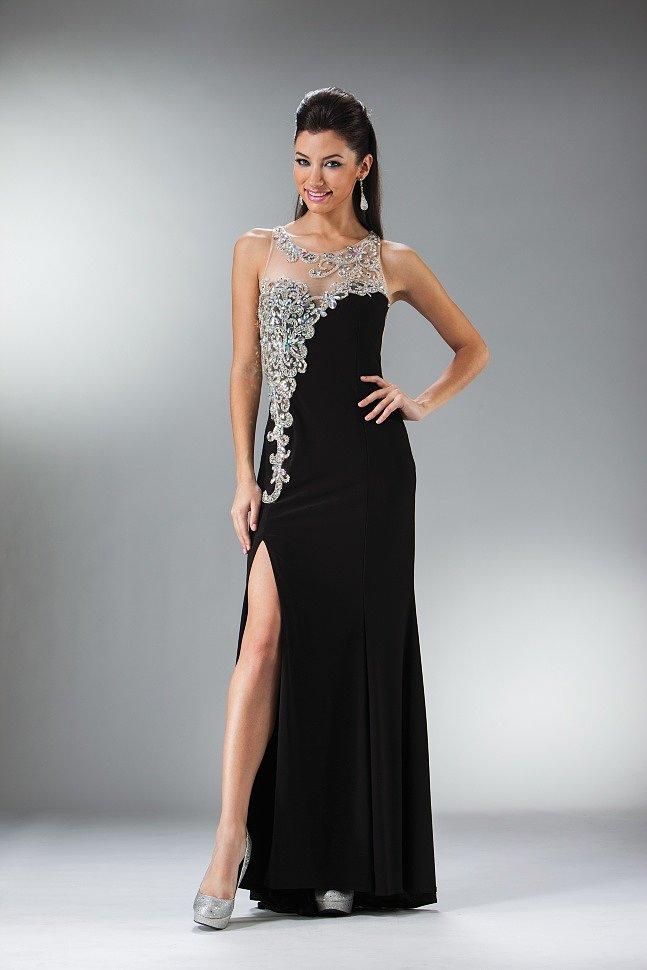 Красивые черные платья в пол вечерние фото