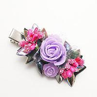 Заколки с цветами