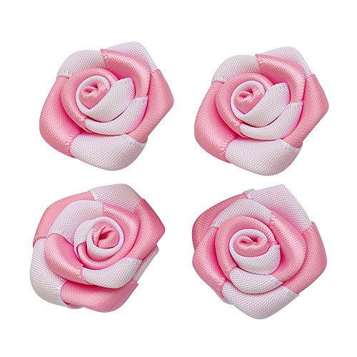 Ободок из атласных роз с лентами