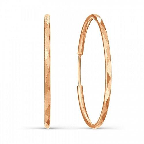 Серьги кольца большого диаметра