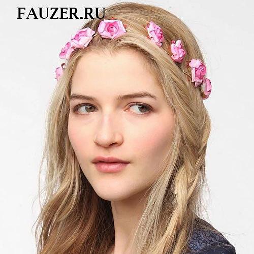 Ободок из цветов на голову - Прически, фото, цены