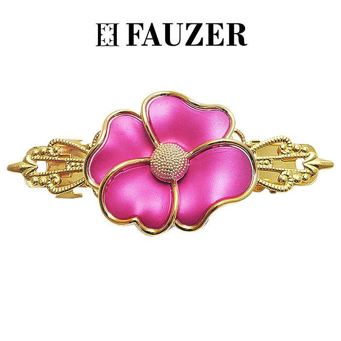 Металлическая заколка для волос Fauzer с цветами