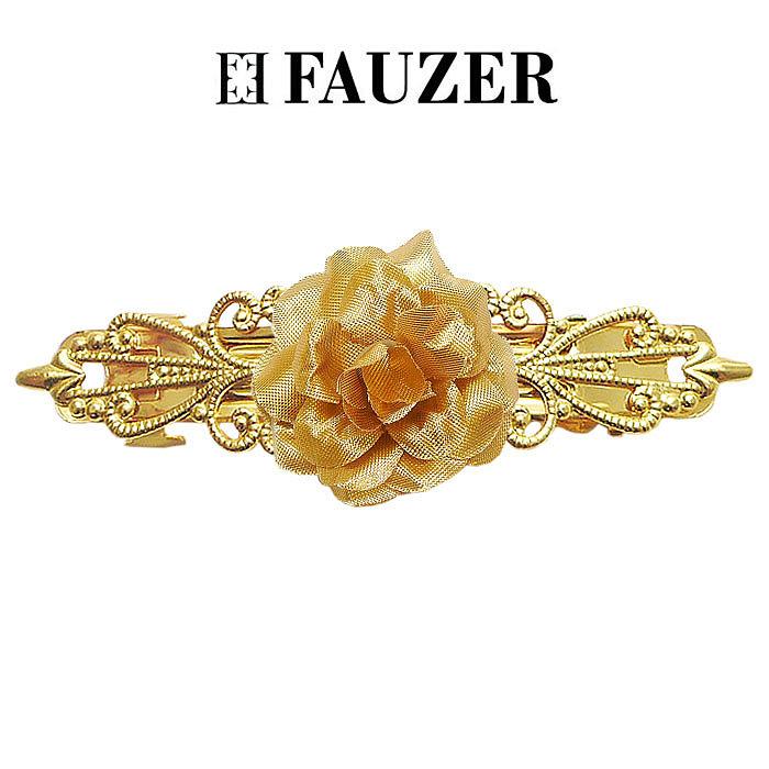Металлическая заколка для волос Fauzer с золотыми цветами