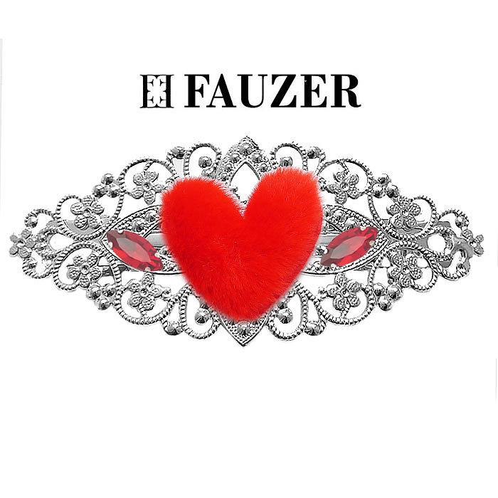 Металлическая заколка для волос Fauzer с сердечками