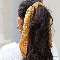 платок с резинкой для волос