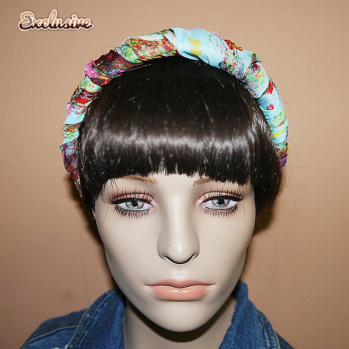 6944faf3f9da Ободок платок на голову шелк модный аксессуар объемный купить в  obodki.fauzer.ru